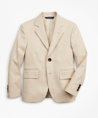 Brooks Brothers Boys Cotton Twill Two-Button Suit Jacket