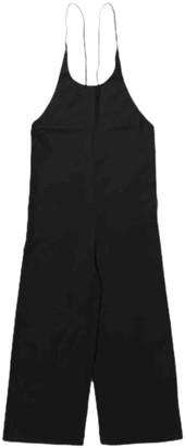 Base Range Black Silk Jumpsuits