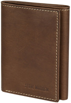 Steve Madden Brown Antique Trifold Leather Wallet