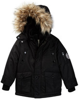 Diesel Parka with Quilted Vestee and Faux Fur Trimmed Hood (Toddler Boys)