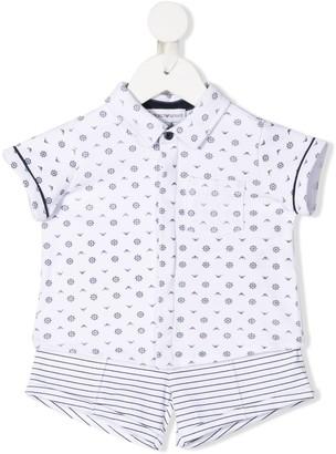 Emporio Armani Kids Printed Shirt Shorts Set