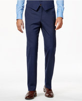 Alfani Men's Traveler Medium Blue Solid Slim-Fit Pants, Only at Macy's