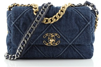 Chanel 19 Flap Bag Quilted Denim Medium