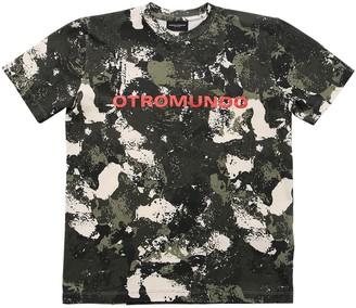 Marcelo Burlon County of Milan All Over Print Cotton Jersey T-Shirt