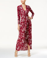 Thalia Sodi Long-Sleeve High-Low Maxi Dress