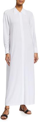 Norma Kamali Oversized Long Boyfriend Coverup Shirtdress