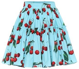 Dolce & Gabbana Exclusive to Mytheresa cherry printed cotton miniskirt