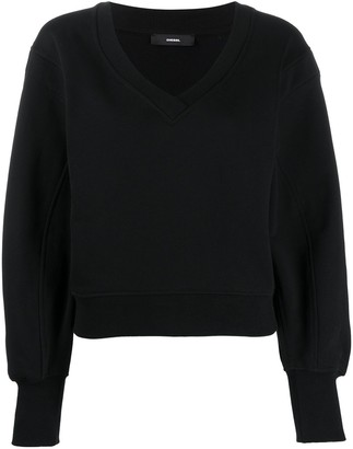 Diesel crossover V-neck sweatshirt