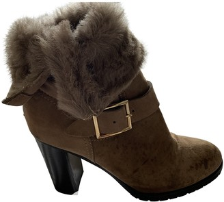 Jimmy Choo Camel Suede Boots