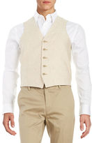 Black Brown 1826 Linen Vest