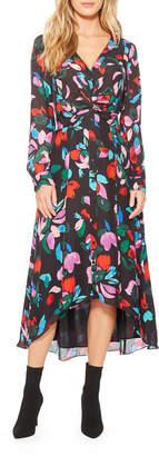 Parker Cora Floral Button-Front Midi Dress