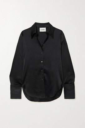 Nanushka Net Sustain Mandine Satin Shirt