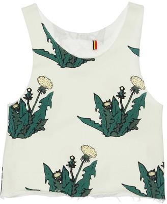 Dandelion Print Cotton Sweat Tank Top