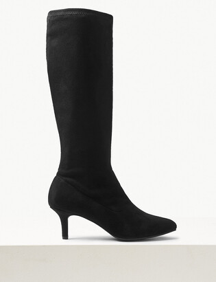 Marks and Spencer Kitten Heel Pointed Knee High Boots