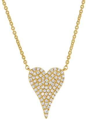 Sabrina Designs 14K 0.17 Ct. Tw. Diamond Heart Necklace