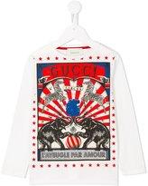 Gucci Kids circus print long sleeved T-shirt