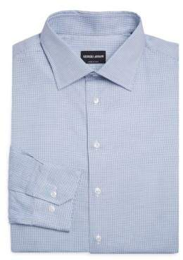 Giorgio Armani Micro-Graph Dress Shirt