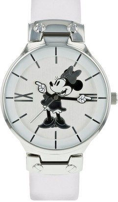 Disney Womens Analogue Classic Quartz Watch with Leather Strap MN1562