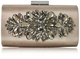 Love Moschino Bronze Satin and Crystals Evening Clutch w/Chain
