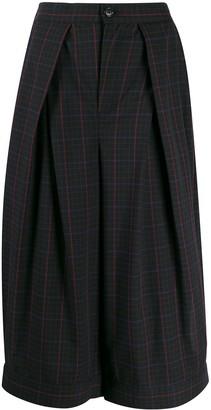 Zucca checked cropped trousers