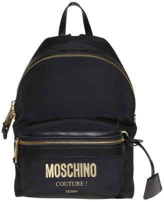 Moschino Backpack In Black Color Fabric