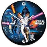Vandor Star Wars 13.5 Cordless Wood Wall Clock