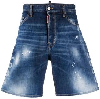 DSQUARED2 Acid-Wash Denim Shorts