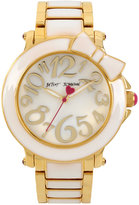 Betsey Johnson Women's Gold-Tone & White Bracelet Watch 41mm BJ00459-10