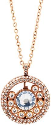 Swarovski Admiration 18K Rose Gold Plated CZ Necklace & Bracelet Set