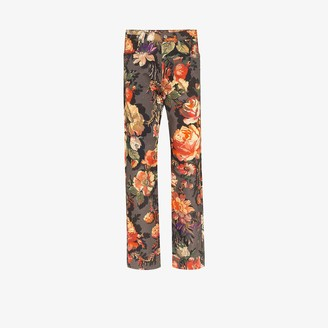 Dries Van Noten Floral Print Straight Leg Jeans