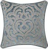 "J Queen New York Sicily Teal 20"" Square Deocrative Pillow"