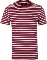 Lyle & Scott Breton Stripe Off White & Claret T-shirt