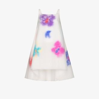 Susan Fang Layered Feather Mini Dress