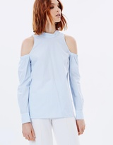 Rebecca Vallance The Parker Cut-Out Shirt