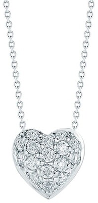 Roberto Coin Tiny Treasures 0.15 TCW Diamond and 18K White Gold Heart Pendant Necklace