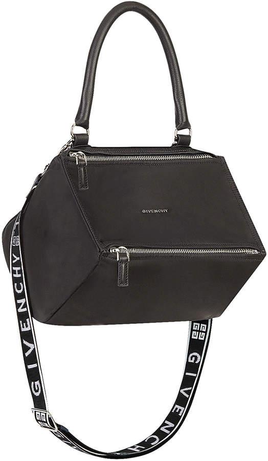 Givenchy Small Logo Strap Pandora in Black | FWRD