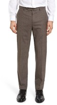 Incotex Men's Flat Front Check Wool Trousers