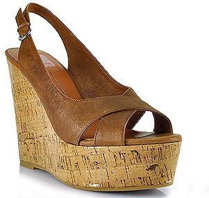 Dolce Vita Jill - Tan Leather Cork Wedge Sandal