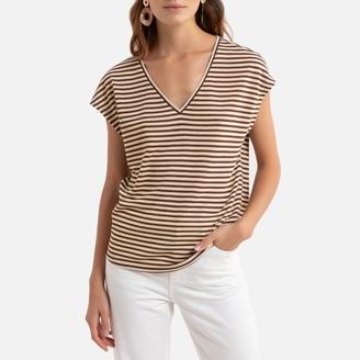 Only Striped V-Neck T-Shirt