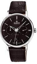 Dugena Men's Premium hand driven Watch with Black Dial Analogue Display and Black Leather Strap