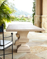 Horchow Alexandra Outdoor Double-Urn Pedestal Table