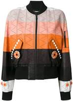 Fendi panel bomber jacket