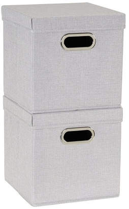 Household Essentials 2-Pc. Silver Storage Box Set