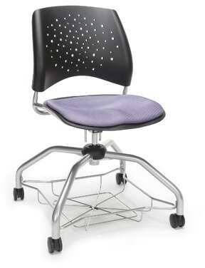 "OFM Star Series Foresee 20"" Classroom Chair with Casters Seat Color: Lavender"