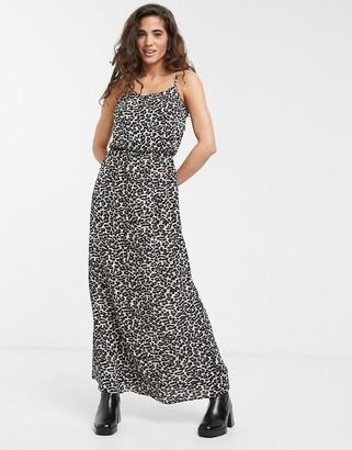 Only Winner cami leopard print maxi dress