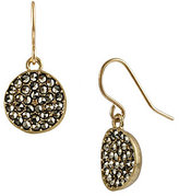 Kenneth Cole New York Pave Disc Drop Earrings