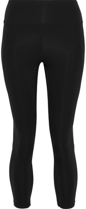 Iris & Ink Cropped Perforated Neoprene Leggings