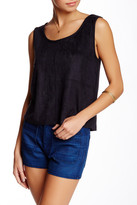 MinkPink Faux Suede Panelled Tank