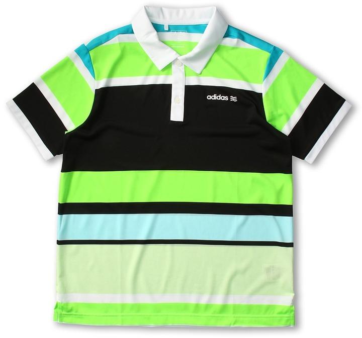 adidas Kids - Fashion Performance Enginerred Stripe Polo (Big Kids) (White/Glow/Black/Moonrock/Mint) - Apparel