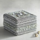 Pier 1 Imports Silver Bejeweled Jewelry Box